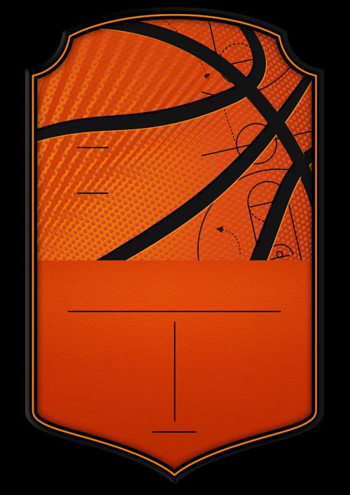 Basketball card design