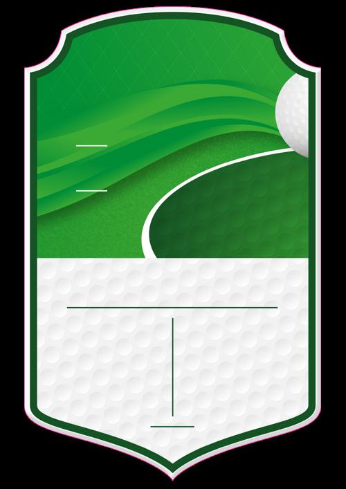 Golf card design