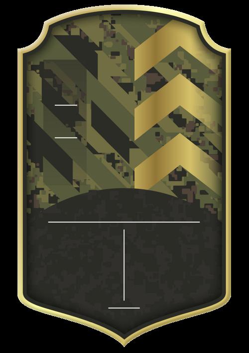Military card design