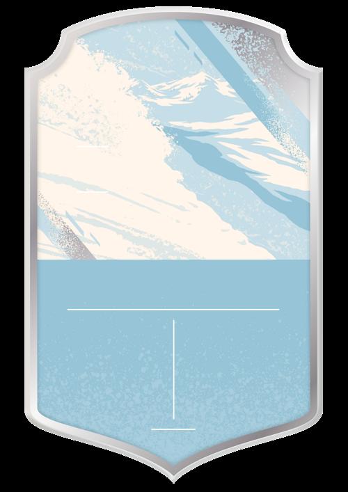 Skiing card design