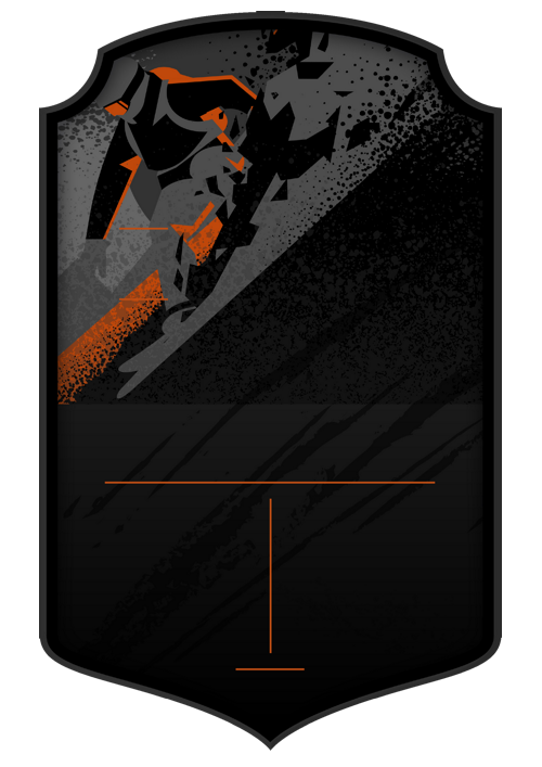 Snowboarding Dark card design
