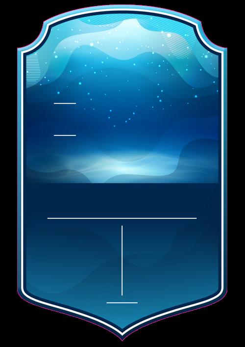Swimming card design
