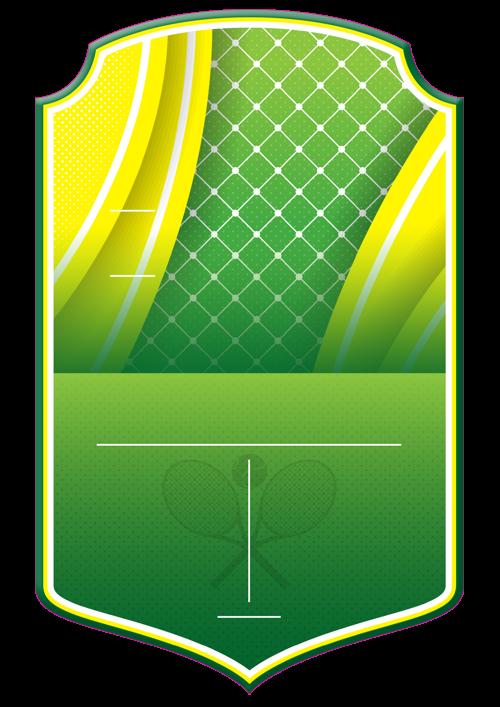 Tennis card design